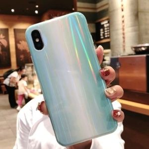 Accessories - NEW iPhone XS Max Blue Marble Laser Case